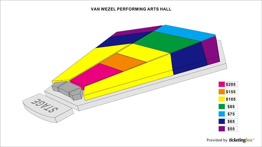 Van wezel performing arts hall seating chart