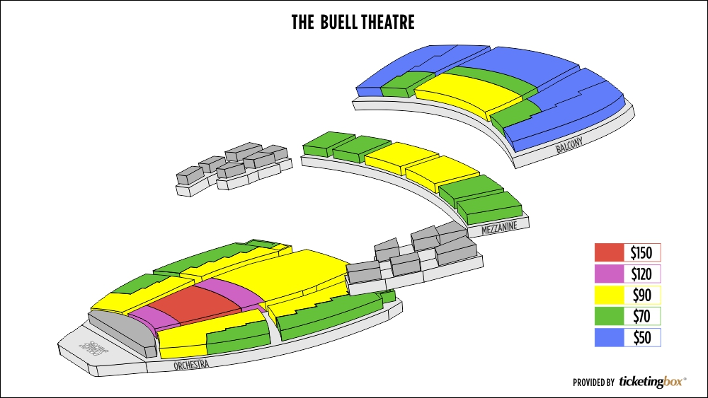 The buell theatre seating chart