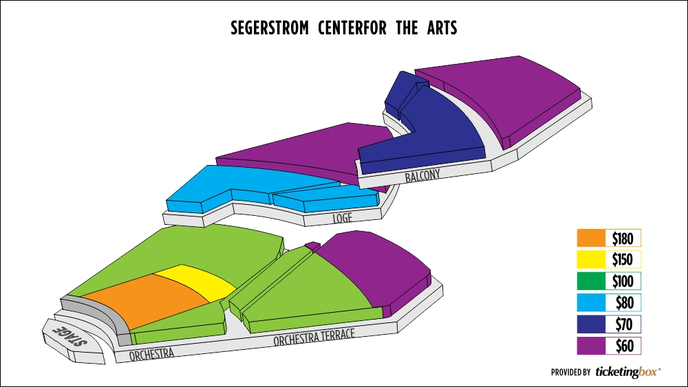 Segerstrom center for the arts seating chart