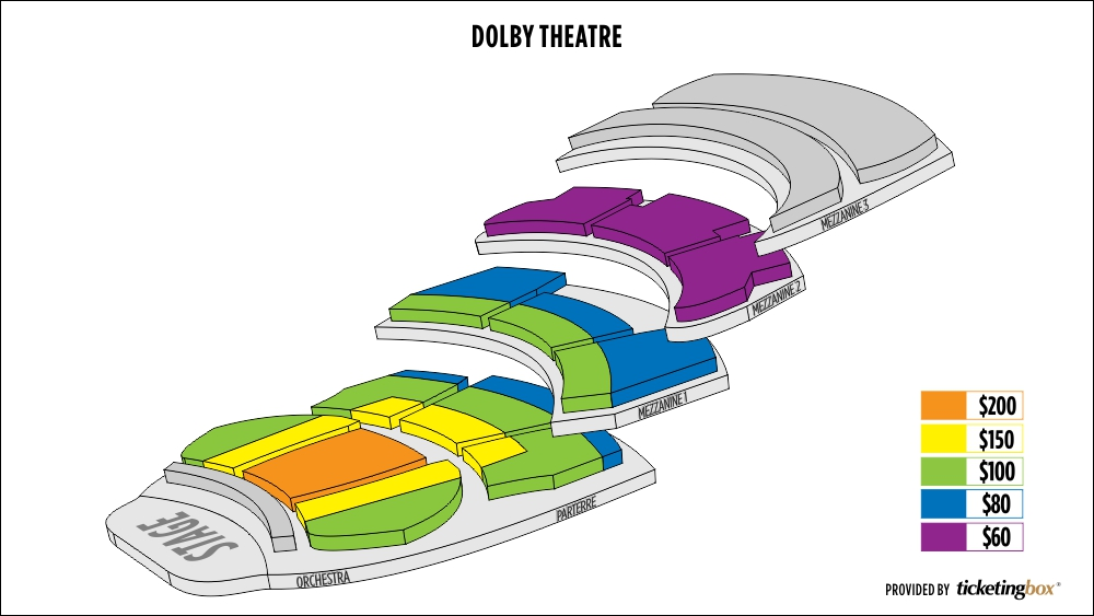 Hollywood dolby theatre seating chart