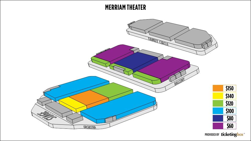 Philadelphia merriam theater kimmel center seating chart