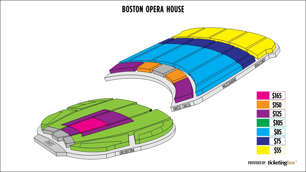 Boston opera house seating chart