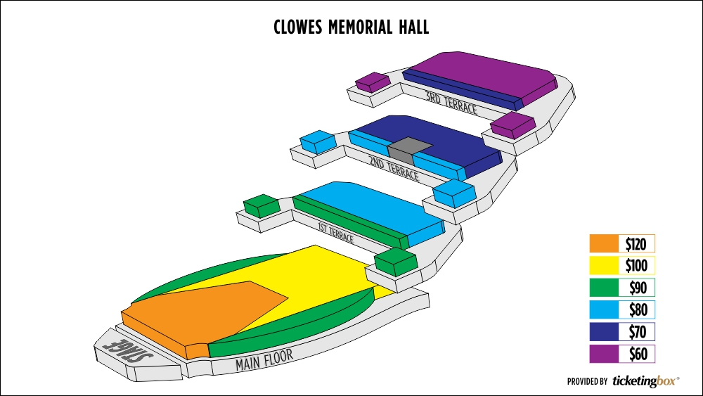 Clowes memorial hall of butler university seating chart