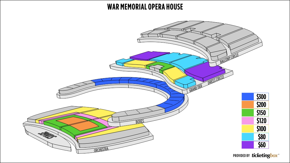 Shen Yun San Francisco The War Memorial Opera House Seating Chart