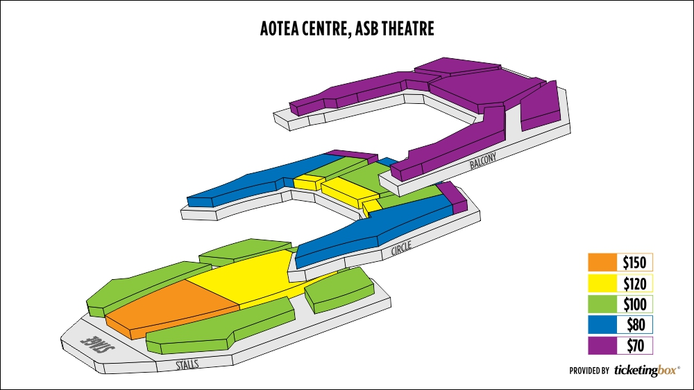 Shen Yun Auckland Aotea Centre, ASB Theatre Seating Chart