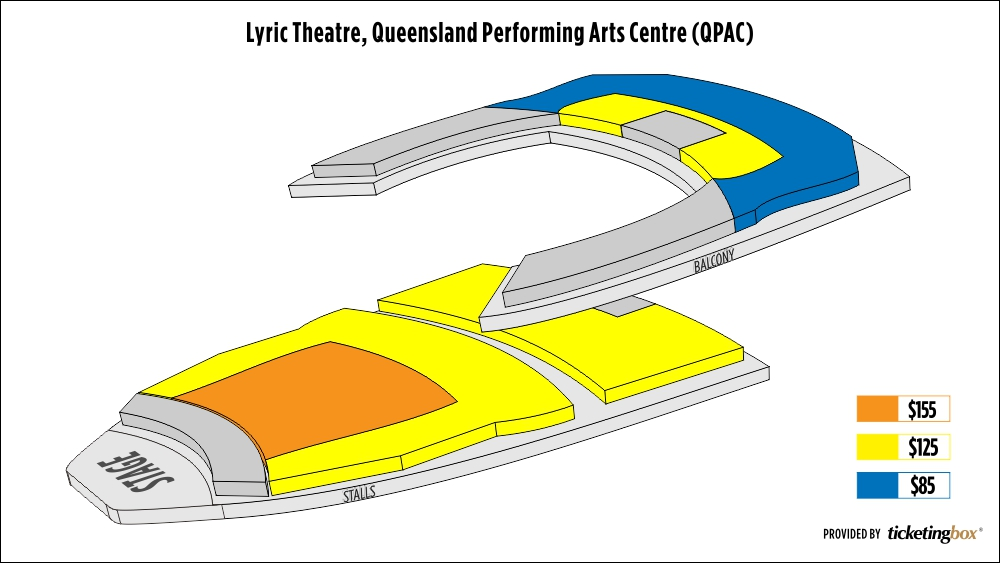 Shen Yun Brisbane Lyric Theatre, Queensland Performing Arts Centre (QPAC) Seating Chart
