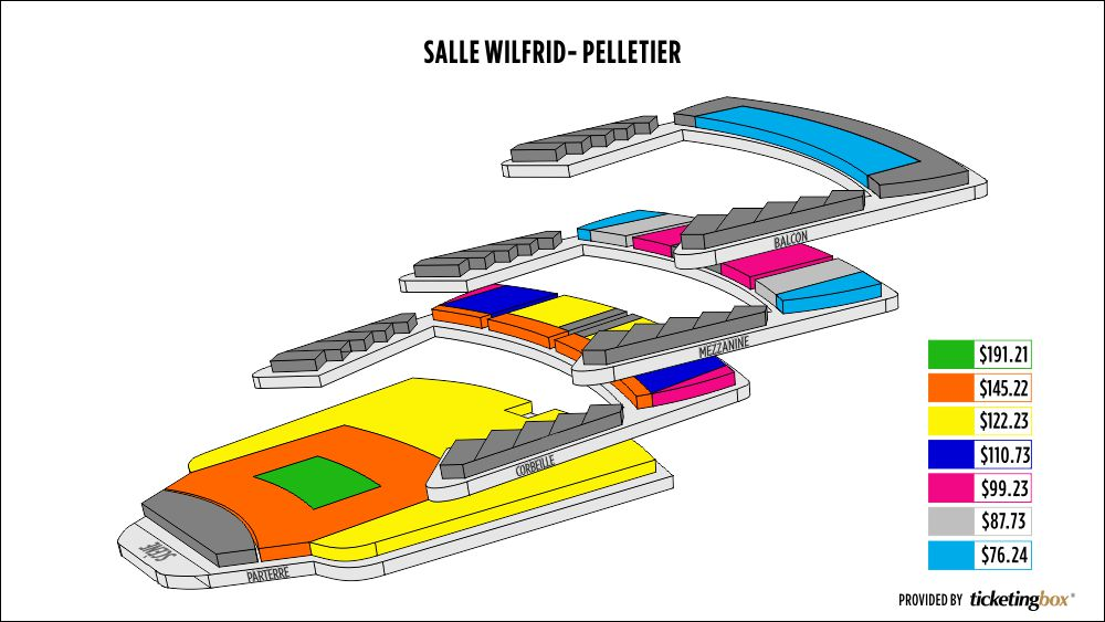 Shen Yun Montreal Place des Arts - Salle Wilfrid-Pelletier Seating Chart