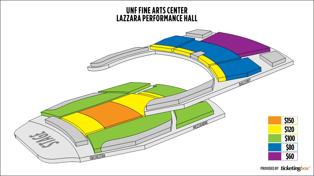 Shen Yun Jacksonville Lazzara Performance Hall<br />  UNF Fine Arts Center Seating Chart