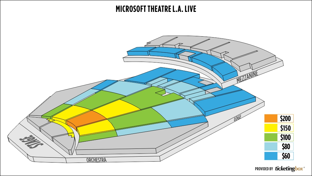 Shen Yun Los Angeles Microsoft Theater (Formerly Nokia Theater L.A. Live) Seating Chart