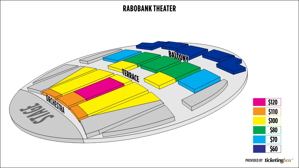 Rabobank Theater Bakersfield Seating Chart