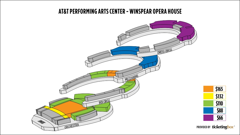 Shen Yun Dallas AT&T Performing Arts Center - Winspear Opera House Seating Chart