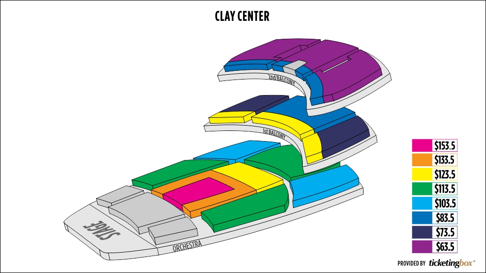 Clay center seating chart