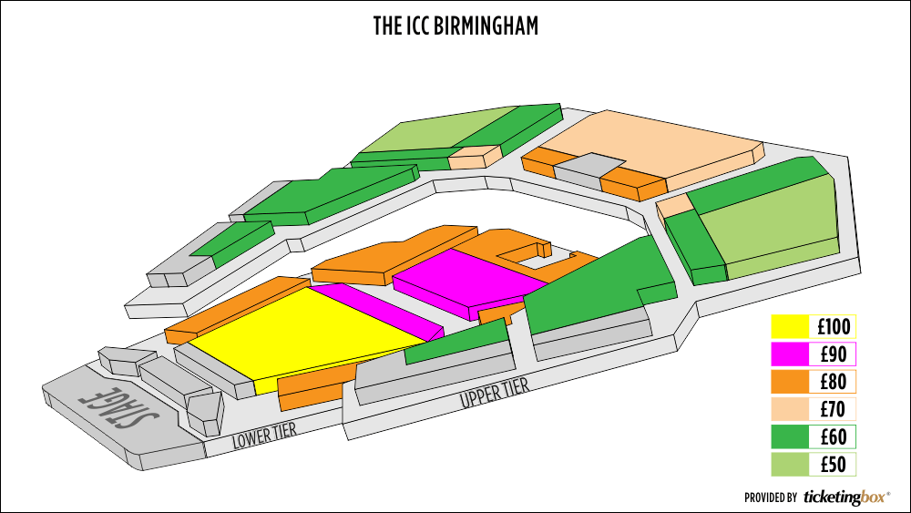 Shen Yun Birmingham (UK) The ICC Birmingham–Hall 1 Seating Chart