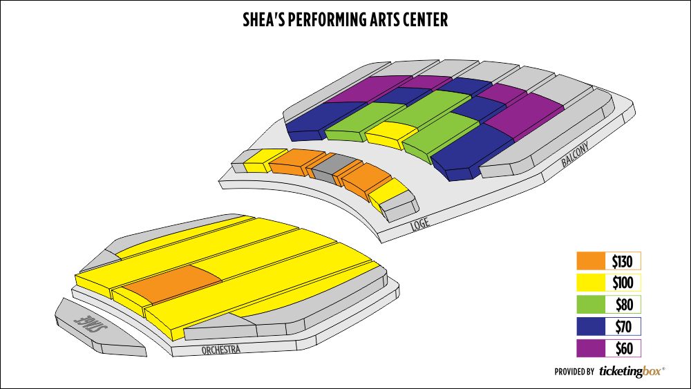 Shen Yun Buffalo Shea's  Performing Arts Center Seating Chart