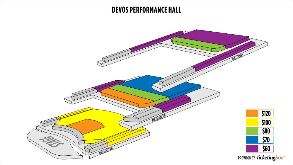 Shen Yun Grand Rapids DeVos Performance Hall Seating Chart