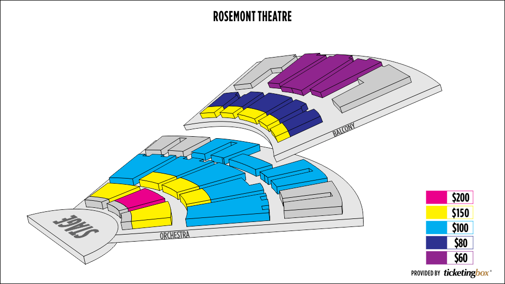 Rosemont theatre seating chart