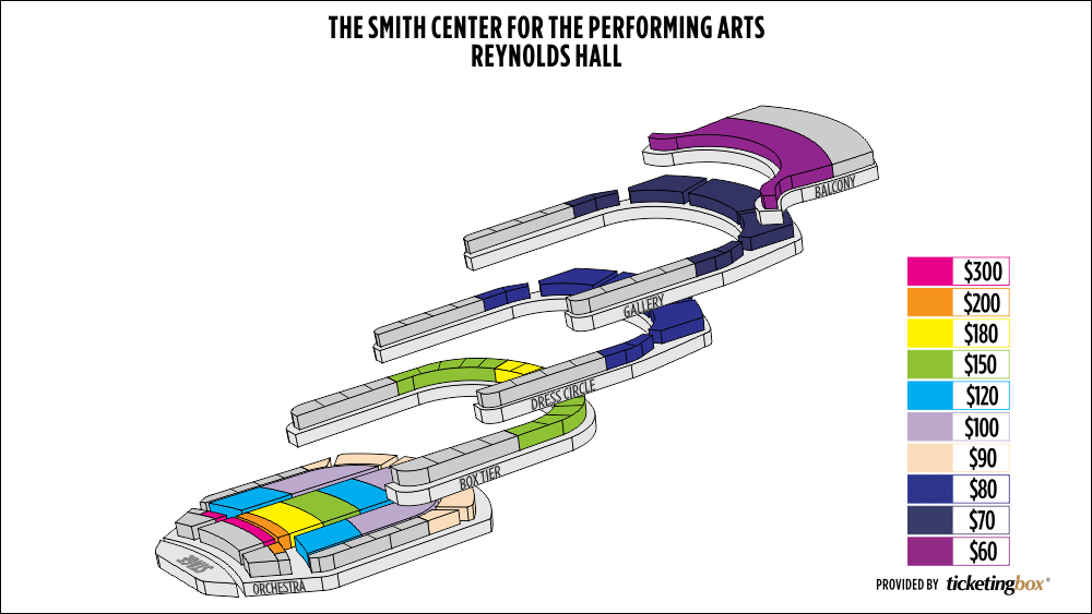 Shen Yun Las Vegas Reynolds Hall, The Smith Center for the Performing Arts Seating Chart