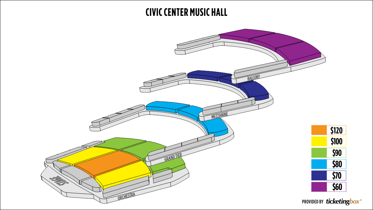 Shen Yun Oklahoma City Civic Center Music Hall Seating Chart