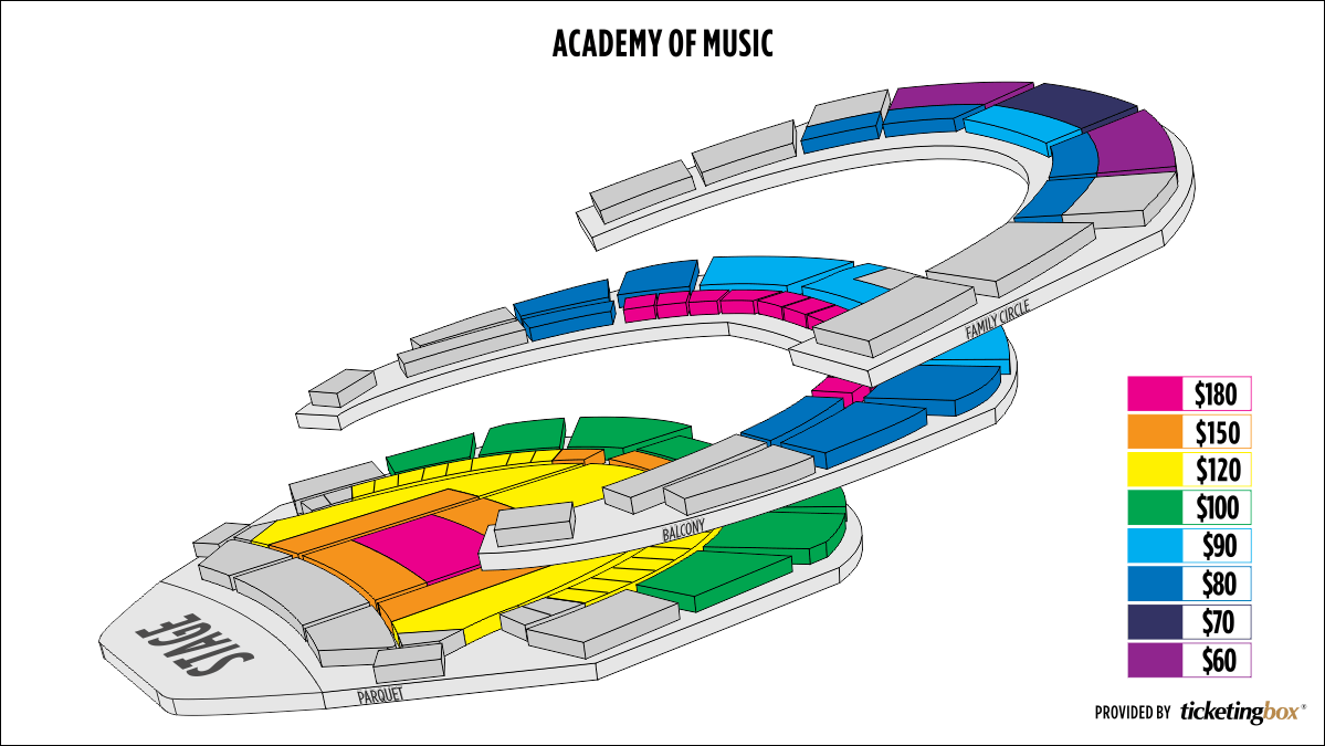 Shen Yun Philadelphia Academy of Music Seating Chart