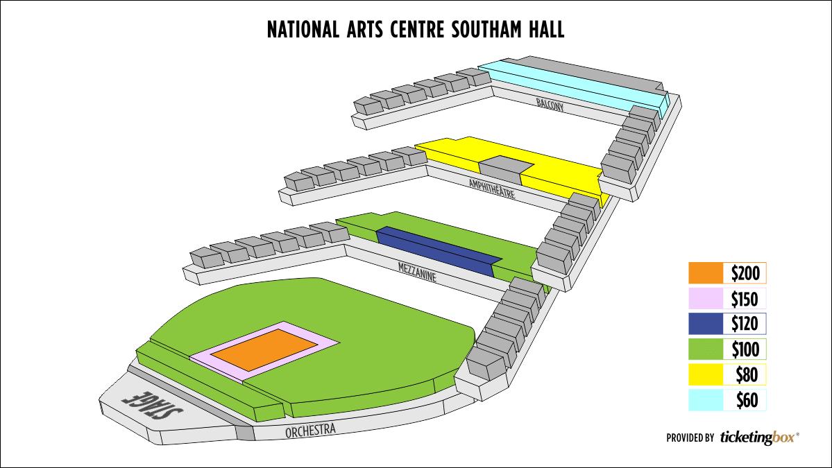 Shen Yun Ottawa National Arts Centre Seating Chart