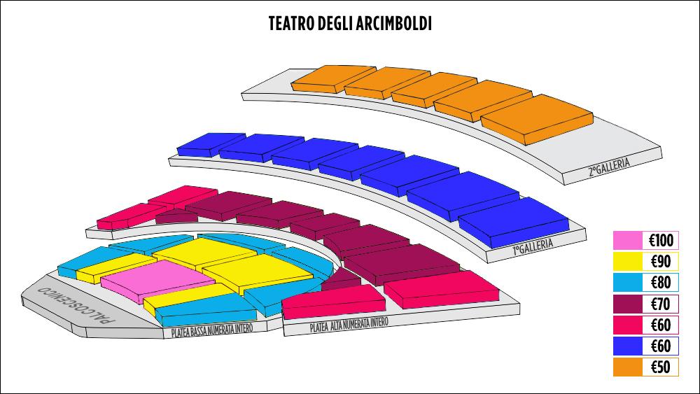 Shen Yun Milan Teatro degli Arcimboldi Seating Chart