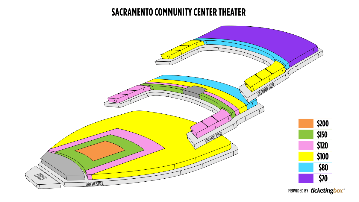 Shen Yun Sacramento Sacramento Community Center Theater Seating Chart