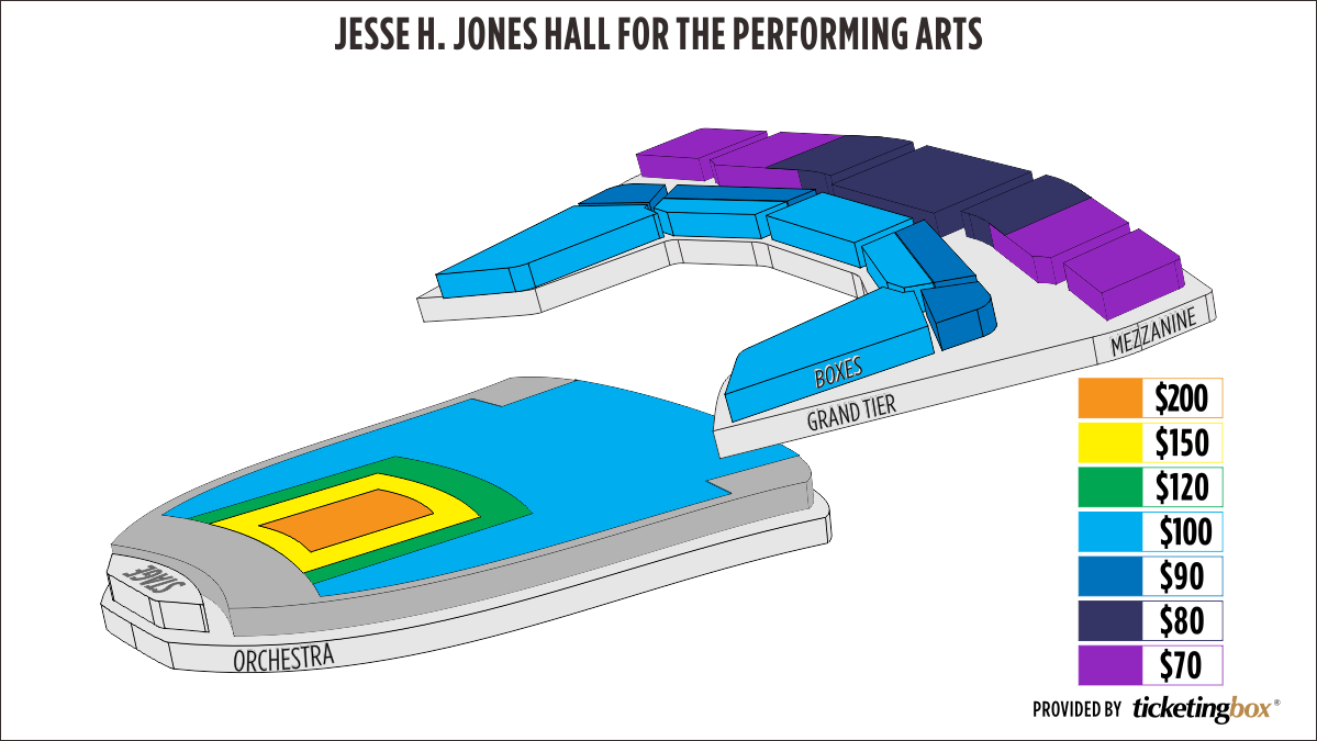 Shen Yun Houston Jones Hall for the Performing Arts Seating Chart