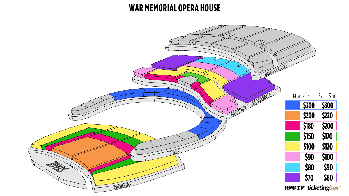Shen Yun San Francisco San Francisco War Memorial Opera House Seating Chart