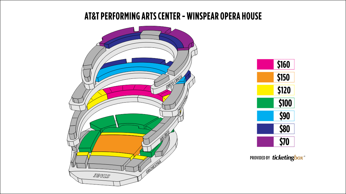 Shen Yun Dallas AT&T Performing Arts Center-Winspear Opera House Seating Chart