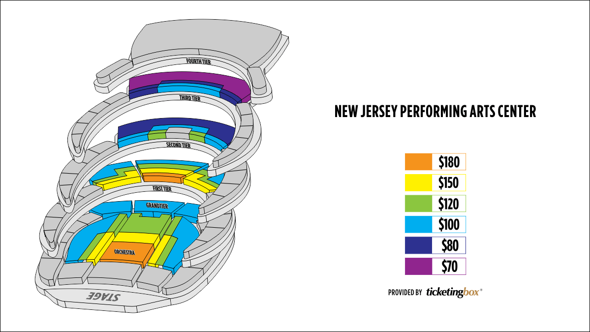 Shen Yun Newark New Jersey Performing Arts center Seating Chart
