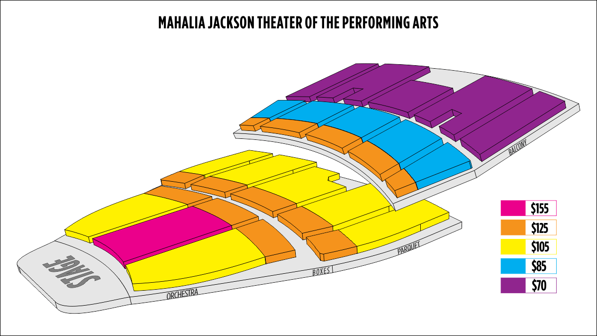 Shen Yun New Orleans Mahalia Jackson Theater of the Performing Arts Seating Chart