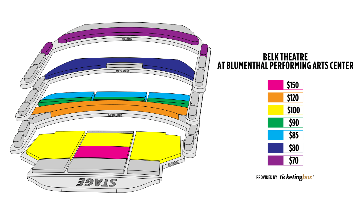 Shen Yun Charlotte Belk Theatre im Blumenthal Performing Arts Center Seating Chart