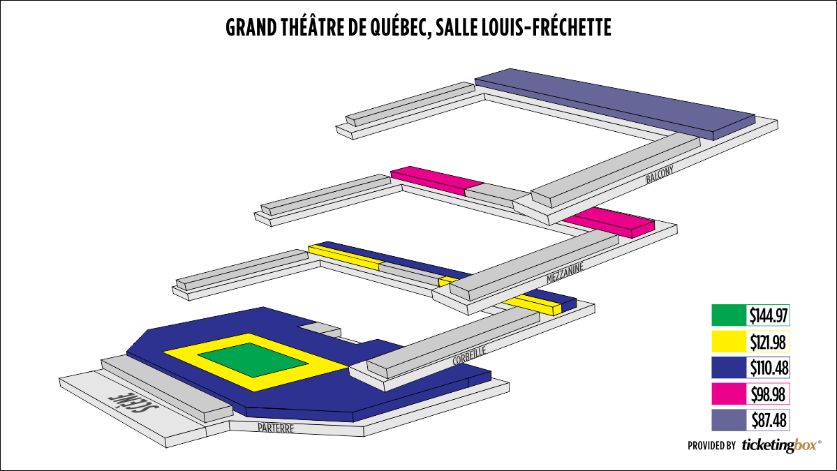 Shen Yun Quebec Grand Théâtre De Québec, Salle Louis-Fréchette Seating Chart