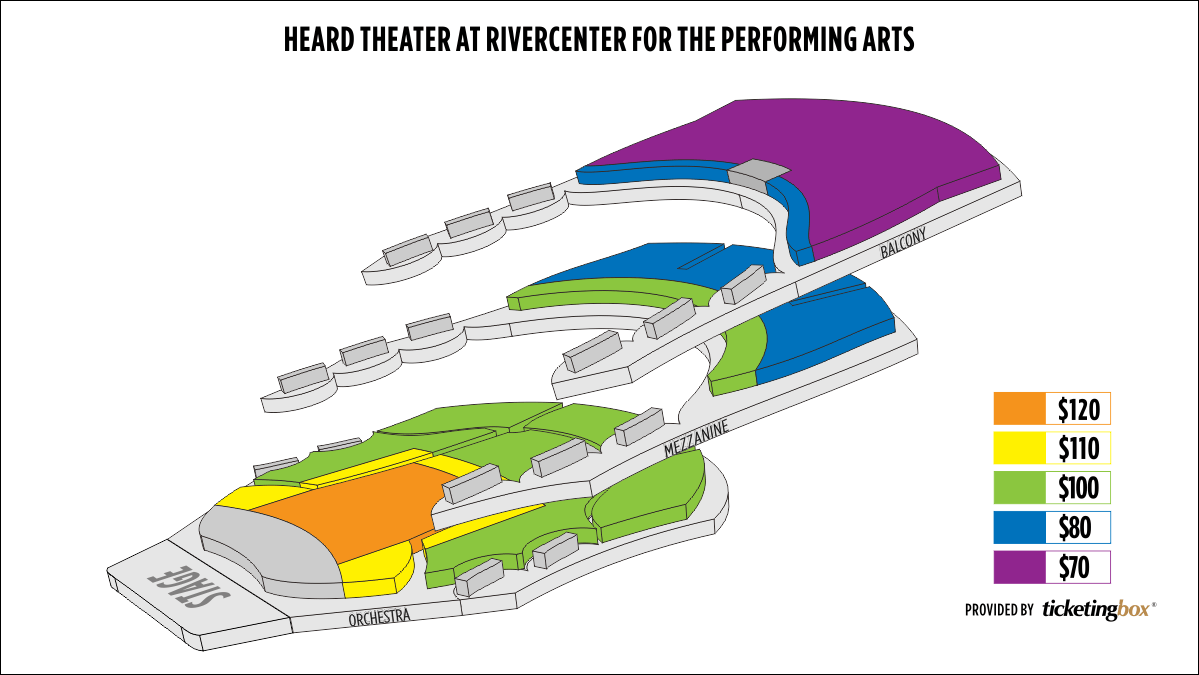 Shen Yun Columbus (Georgia) Heard Theater at RiverCenter for the Performing Arts Seating Chart