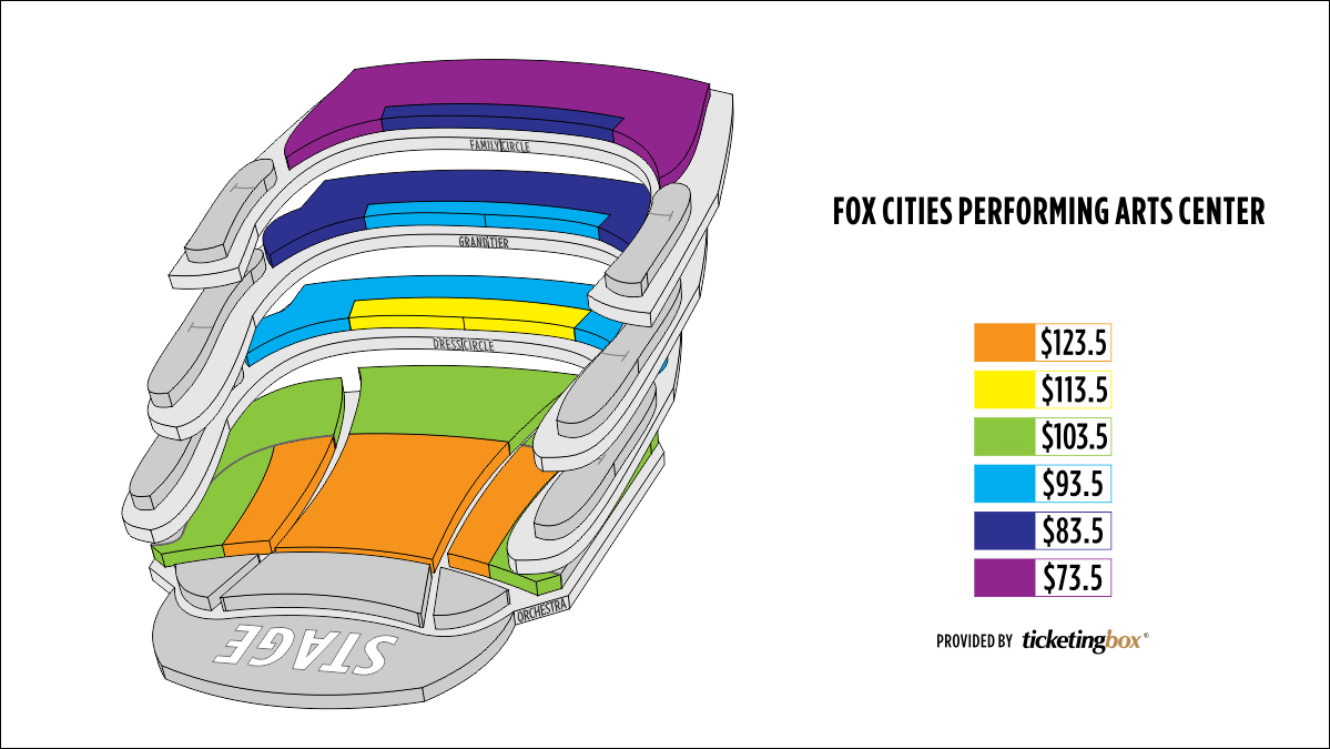 Shen Yun Appleton Fox Cities Performing Arts Center Seating Chart