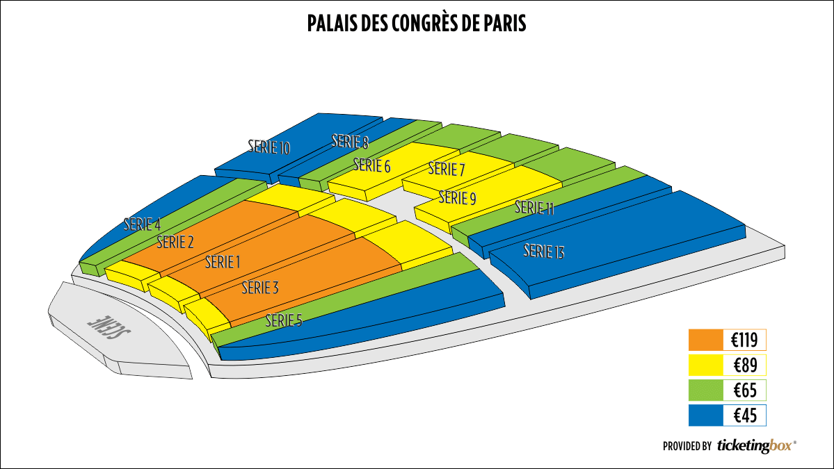 Shen Yun Paris Palais des Congrès de Paris Seating Chart