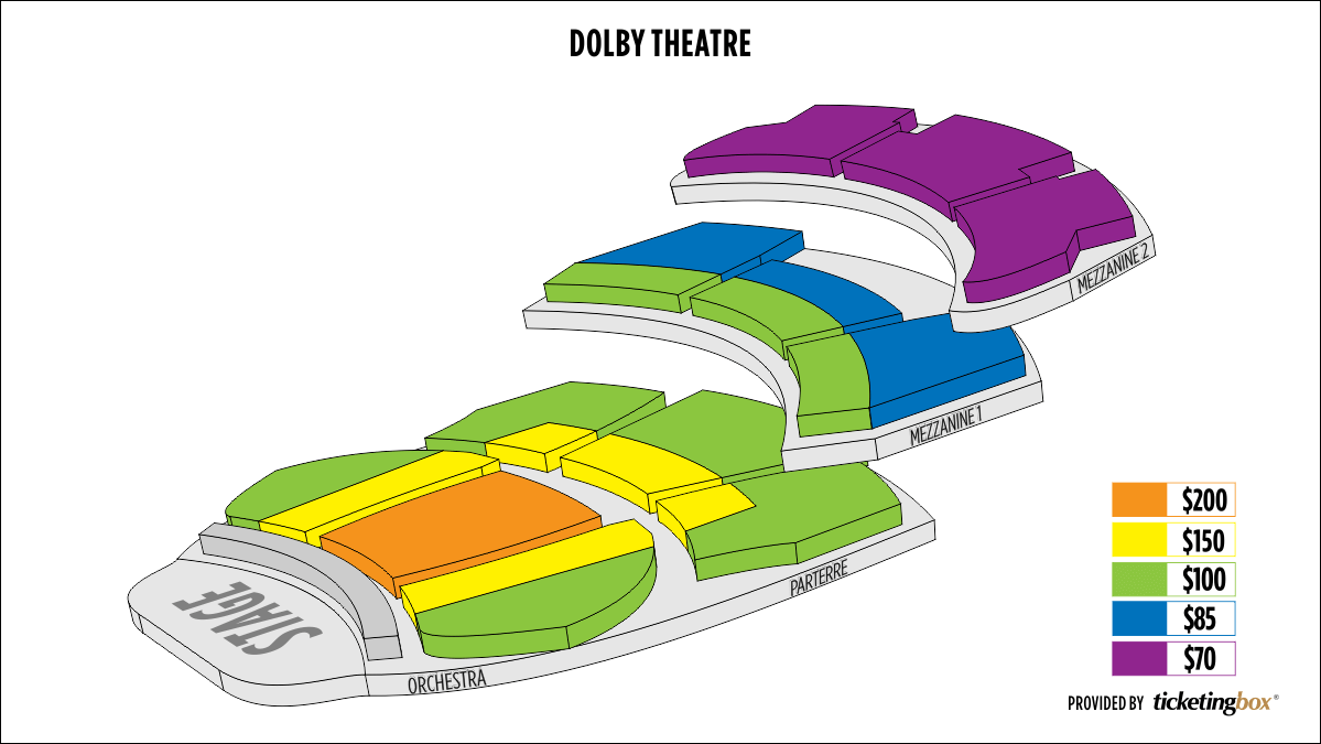 Shen Yun Hollywood Dolby Theatre Seating Chart