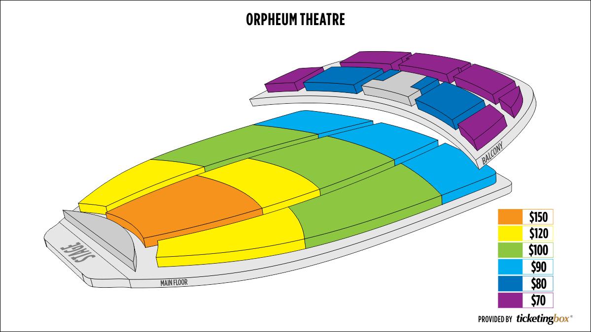 Shen Yun Phoenix 奧芬劇院 Seating Chart