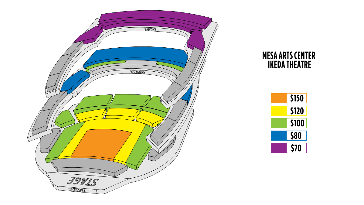 Shen Yun Mesa lkeda Theater Seating Chart
