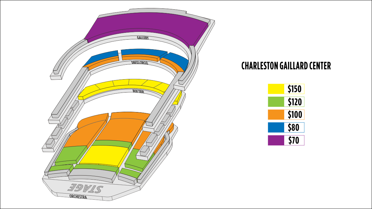 Shen Yun Charleston Charleston Gaillard Center Seating Chart