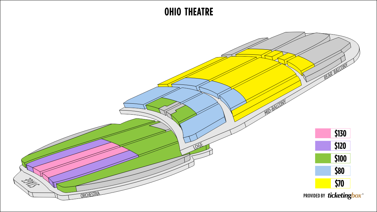 Shen Yun Columbus (Ohio) Ohio Theatre Seating Chart