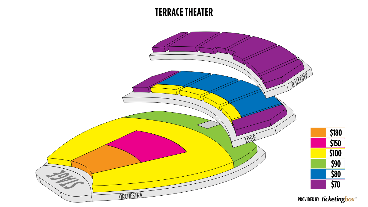 Shen Yun Long Beach Terrace Theater Seating Chart