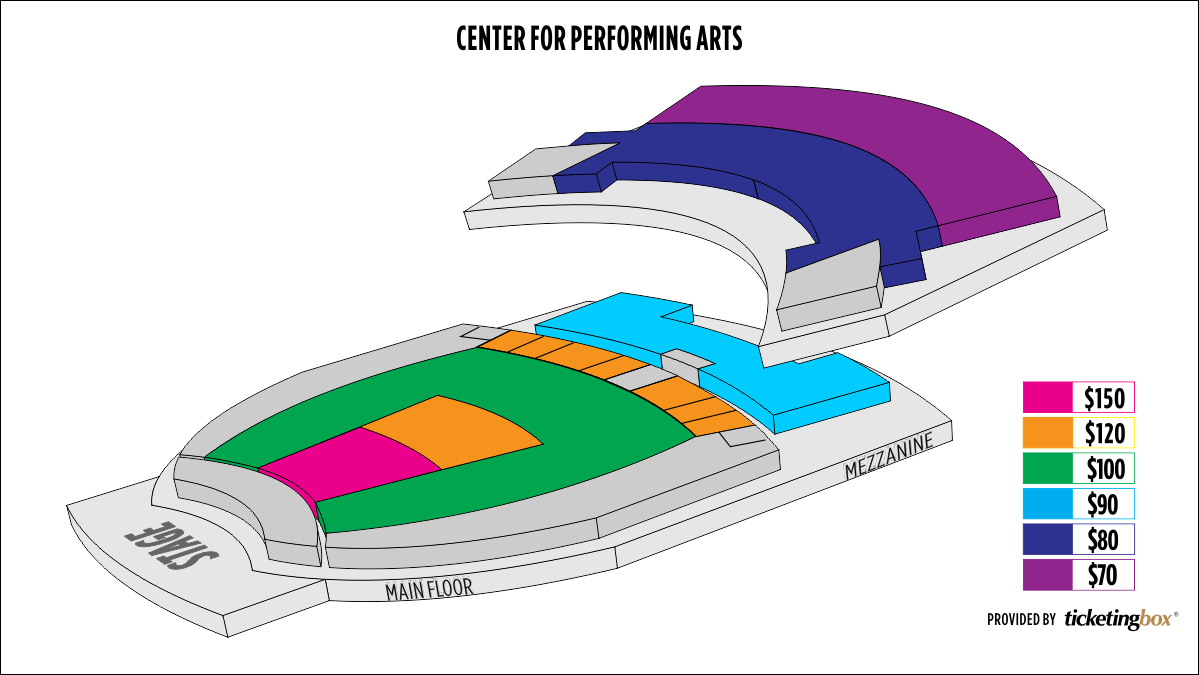 Shen Yun University Park Center for Performing Arts Seating Chart