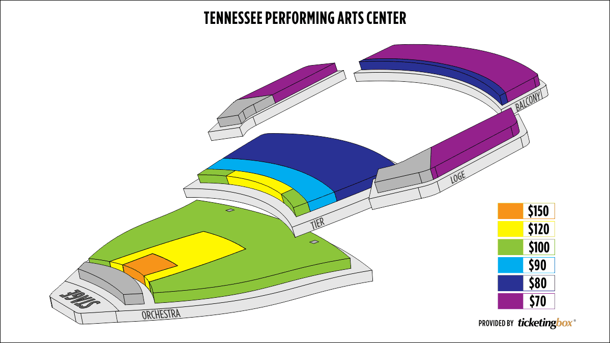 Shen Yun Nashville Andrew Jackson Hall, Tennessee Performing Arts Center (TPAC) Seating Chart