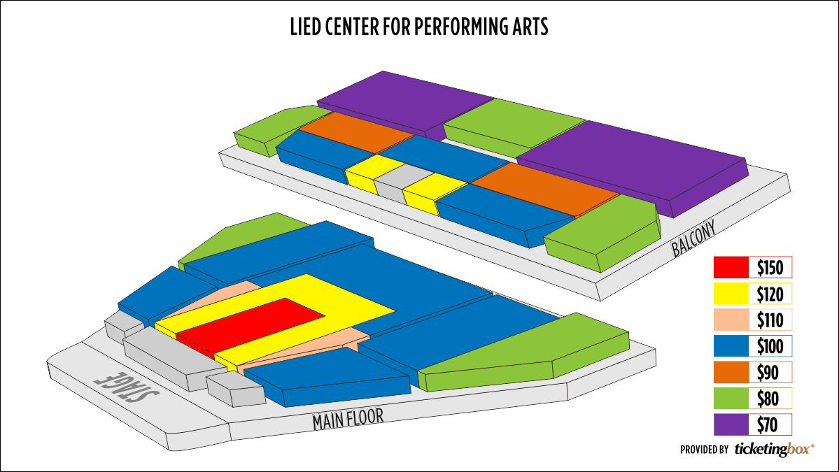 Shen Yun Lincoln Lied Center For Performing Arts, Main Stage Auditorium Seating Chart