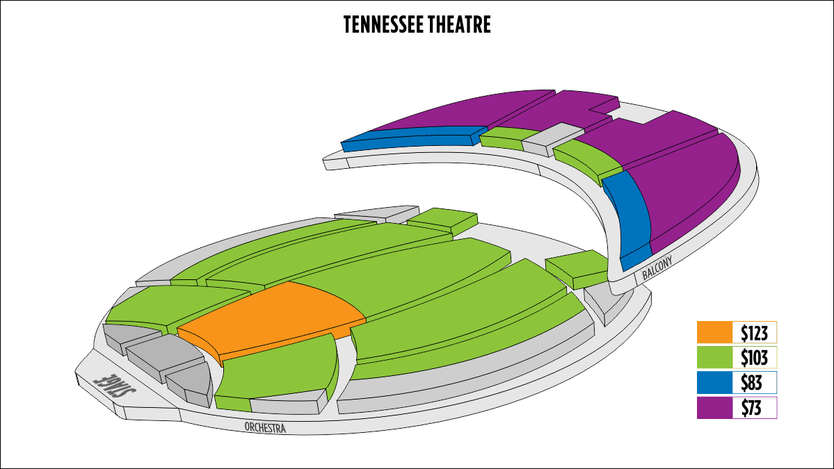 Shen Yun Knoxville Tennessee Theatre Seating Chart