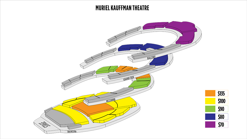 Shen Yun Kansas City Kauffman Center for the Performing Arts<br> Muriel Kauffman Theatre Seating Chart