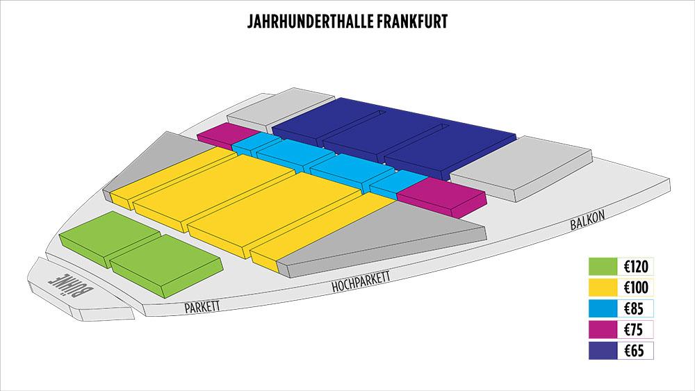 Shen Yun Frankfurt 法蘭克福世紀大廳 Seating Chart