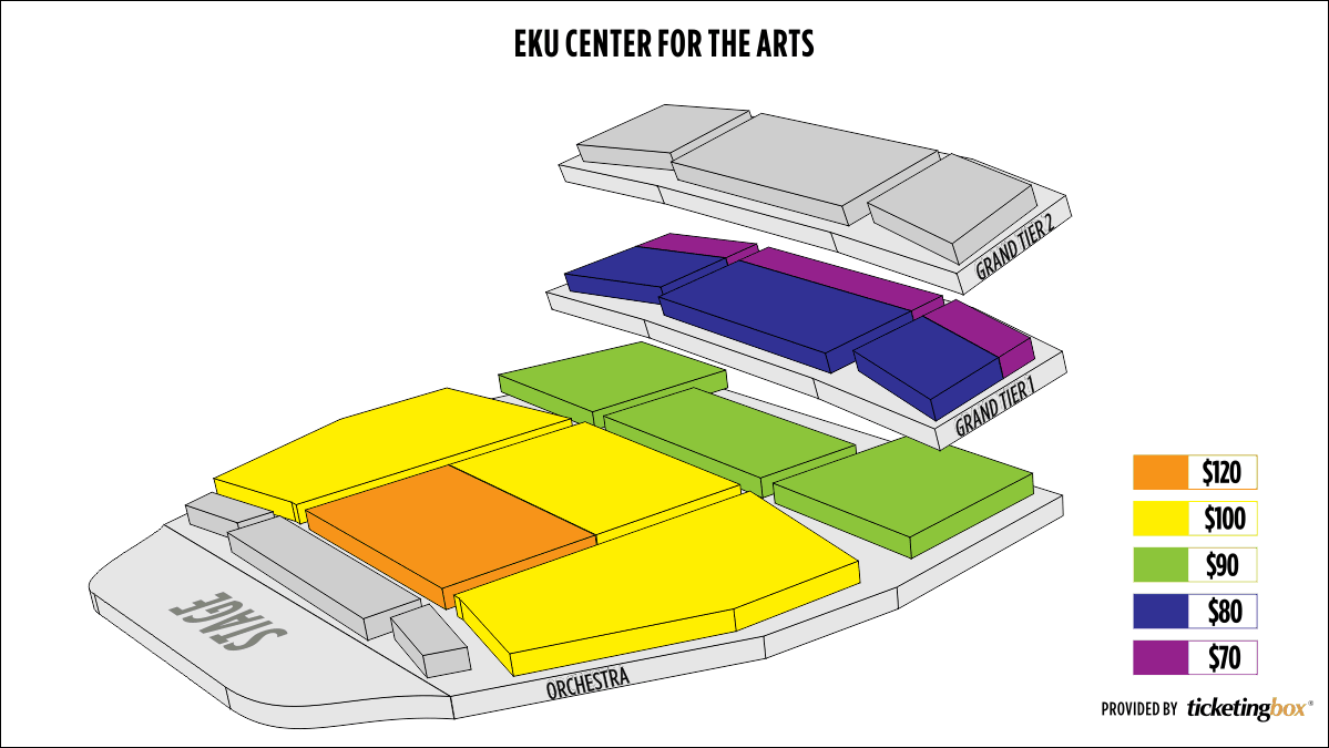 Shen Yun Richmond (Kentucky) 東肯塔基大學藝術中心 Seating Chart