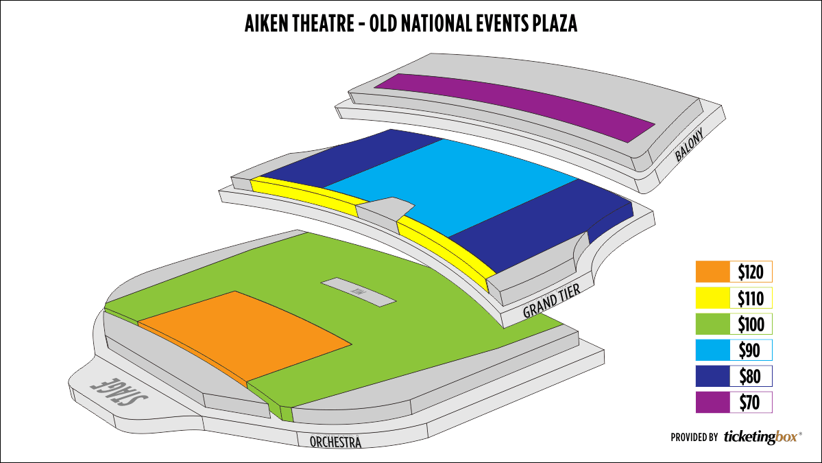 Shen Yun Evansville Aiken Theatre - Old  National Events Plaza Seating Chart